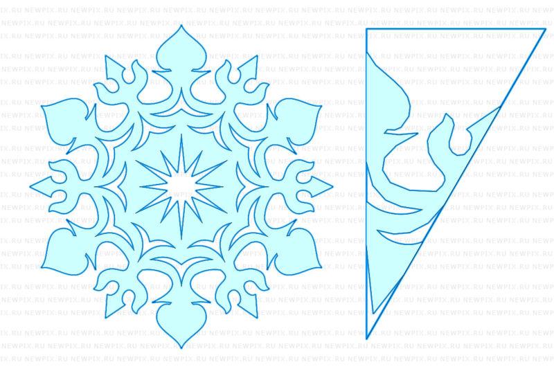 Снежинки из бумаги: шаблоны для вырезания + схемы. Скачивай и распечатывай! этап 17
