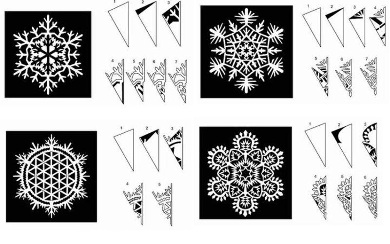 Снежинки из бумаги: шаблоны для вырезания + схемы. Скачивай и распечатывай! этап 18