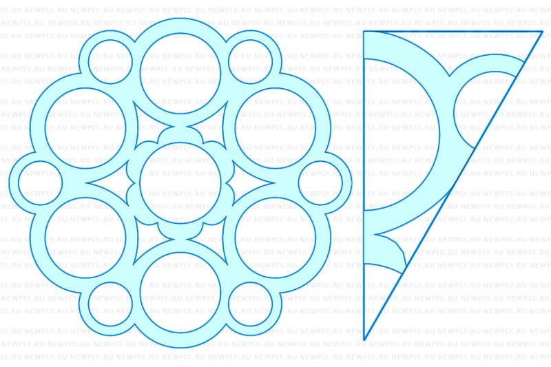 Снежинки из бумаги: шаблоны для вырезания + схемы. Скачивай и распечатывай! этап 19