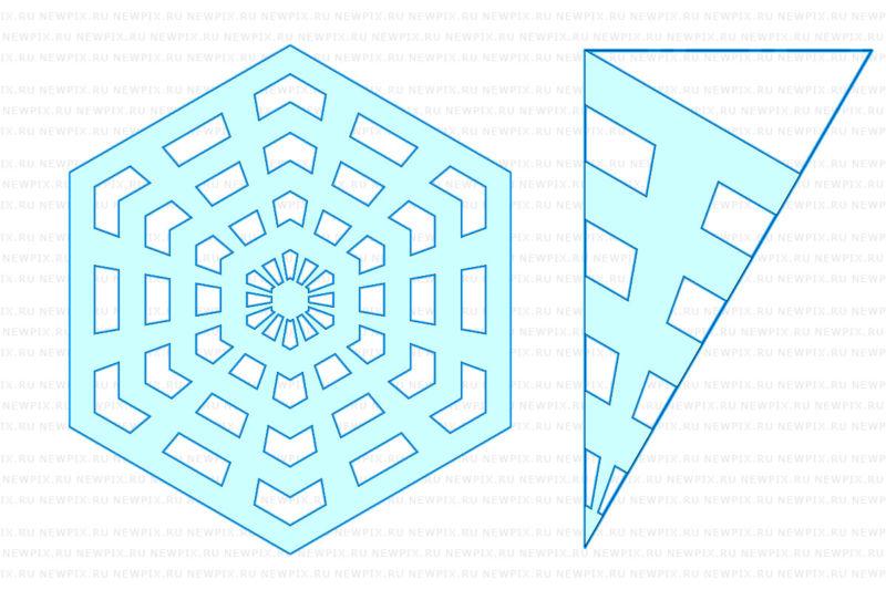 Снежинки из бумаги: шаблоны для вырезания + схемы. Скачивай и распечатывай! этап 20