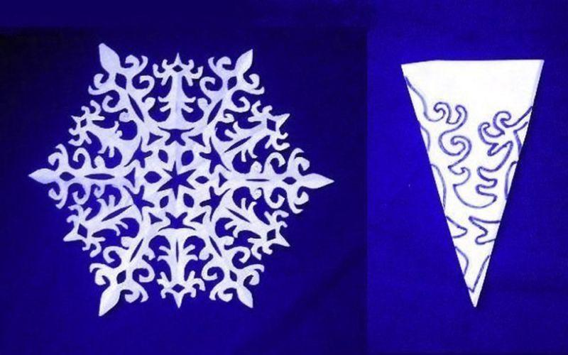 Снежинки из бумаги: шаблоны для вырезания + схемы. Скачивай и распечатывай! этап 22