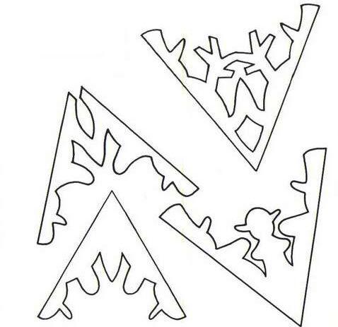 Снежинки из бумаги: шаблоны для вырезания + схемы. Скачивай и распечатывай! этап 23