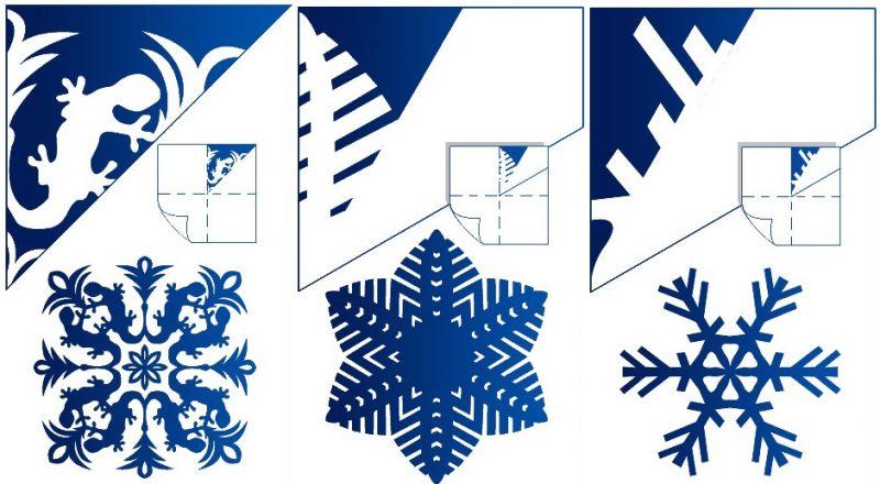 Снежинки из бумаги: шаблоны для вырезания + схемы. Скачивай и распечатывай! этап 25