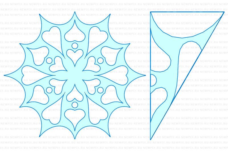 Снежинки из бумаги: шаблоны для вырезания + схемы. Скачивай и распечатывай! этап 16