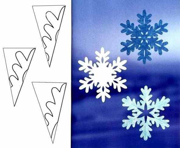 Снежинки из бумаги: шаблоны для вырезания + схемы. Скачивай и распечатывай! этап 9