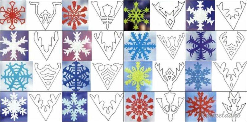 Снежинки из бумаги: шаблоны для вырезания + схемы. Скачивай и распечатывай! этап 10