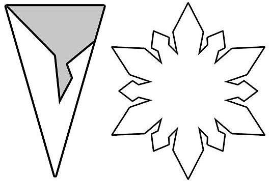 Снежинки из бумаги: шаблоны для вырезания + схемы. Скачивай и распечатывай! этап 12