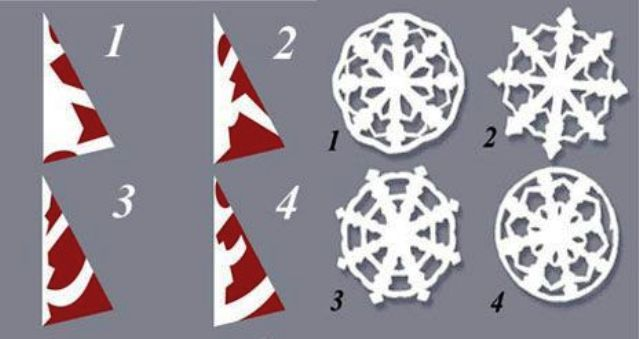 Снежинки из бумаги: шаблоны для вырезания + схемы. Скачивай и распечатывай! этап 13