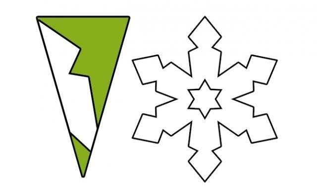 Снежинки из бумаги: шаблоны для вырезания + схемы. Скачивай и распечатывай! этап 14