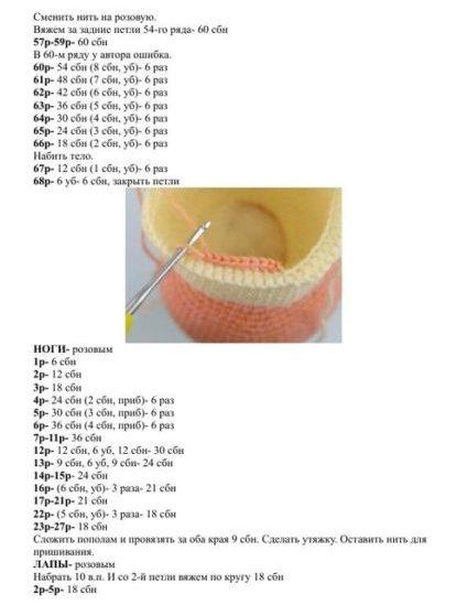 Вязаные свинки (хрюшки) крючком со схемами и описанием. Подборка игрушек амигуруми ручной работы этап 97
