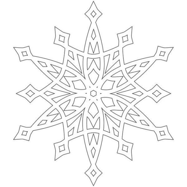Украшения на окна из бумаги к Новому году 2021. Трафареты и шаблоны новогодних украшений этап 42