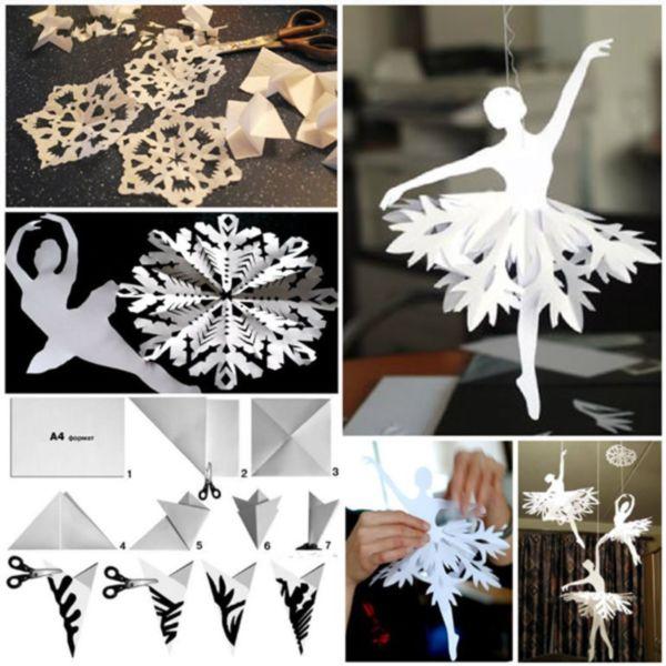 Снежинки из бумаги: шаблоны для вырезания + схемы. Скачивай и распечатывай! этап 26