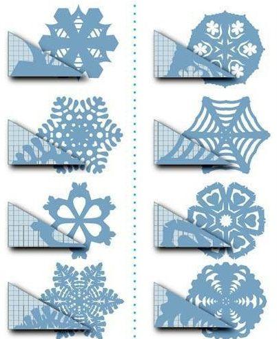 Снежинки из бумаги: шаблоны для вырезания + схемы. Скачивай и распечатывай! этап 39