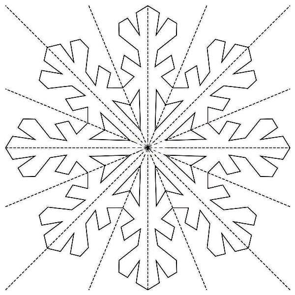 Снежинки из бумаги: шаблоны для вырезания + схемы. Скачивай и распечатывай! этап 41