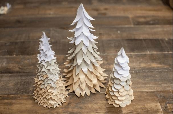 Объемная елка из бумаги — схемы и трафареты для создания елки своими руками этап 34