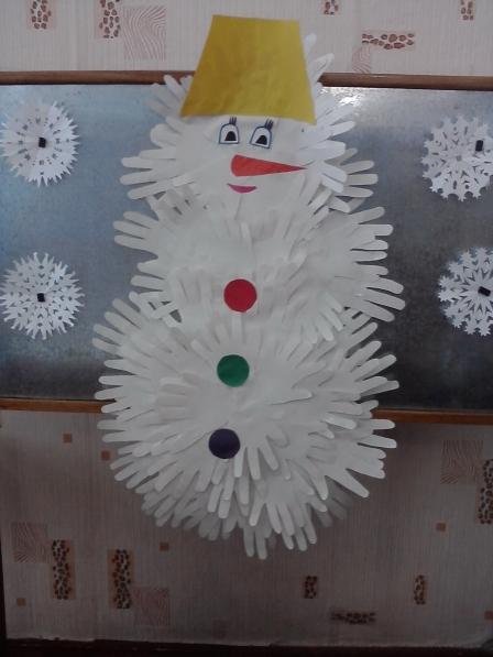 Снеговик своими руками на Новый год из подручных материалов этап 94