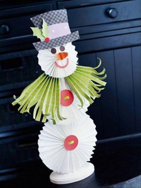Снеговик своими руками на Новый год из подручных материалов этап 91