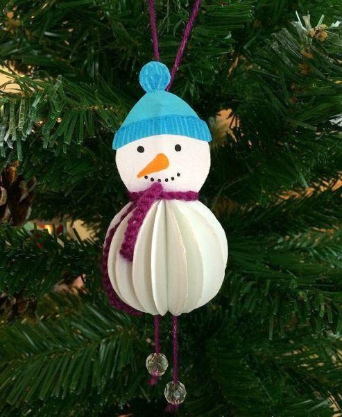 Снеговик своими руками на Новый год из подручных материалов этап 86