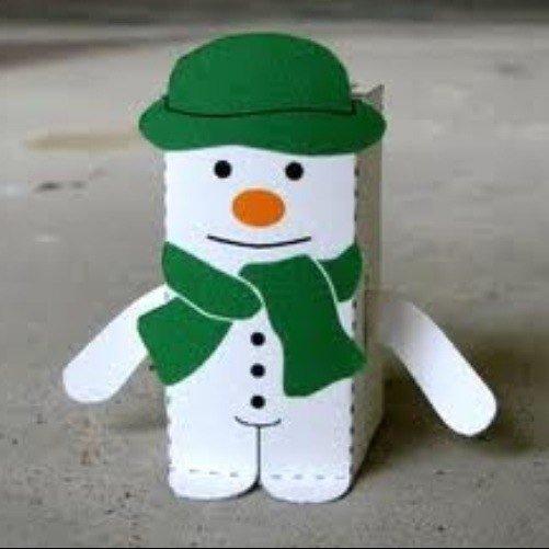 Снеговик своими руками на Новый год из подручных материалов этап 89