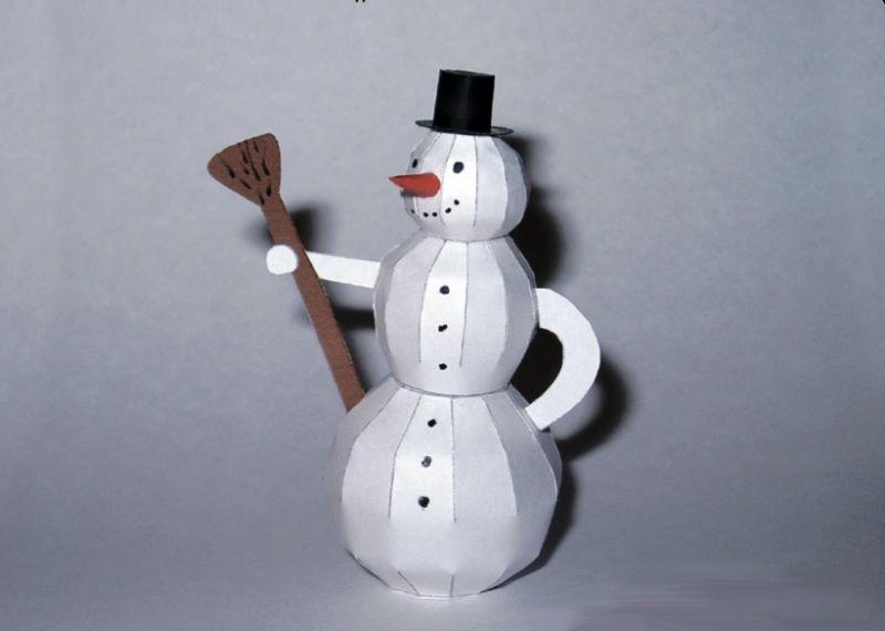 Снеговик своими руками на Новый год из подручных материалов этап 92
