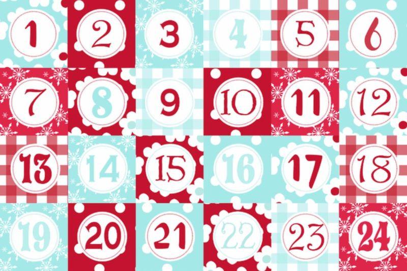 Адвент-календарь для детей к Новому году своими руками с шаблонами и заданиями, которые можно распечатать этап 48