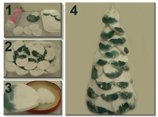 Объемная елка из бумаги — схемы и трафареты для создания елки своими руками этап 98