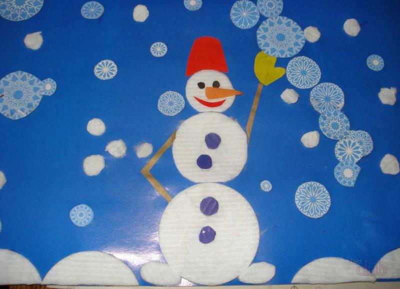 Снеговик своими руками на Новый год из подручных материалов этап 125
