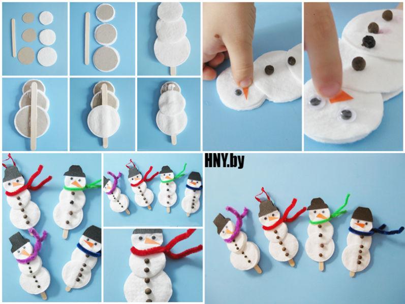 Снеговик своими руками на Новый год из подручных материалов этап 124