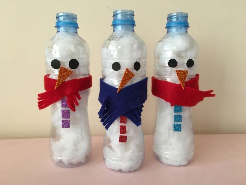 Снеговик своими руками на Новый год из подручных материалов этап 168