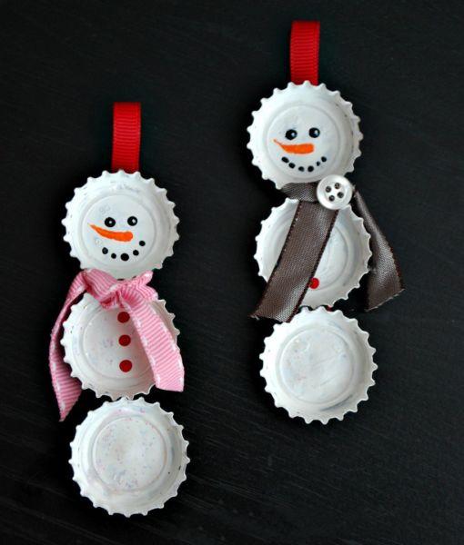 Снеговик своими руками на Новый год из подручных материалов этап 178