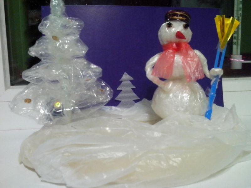 Снеговик своими руками на Новый год из подручных материалов этап 180