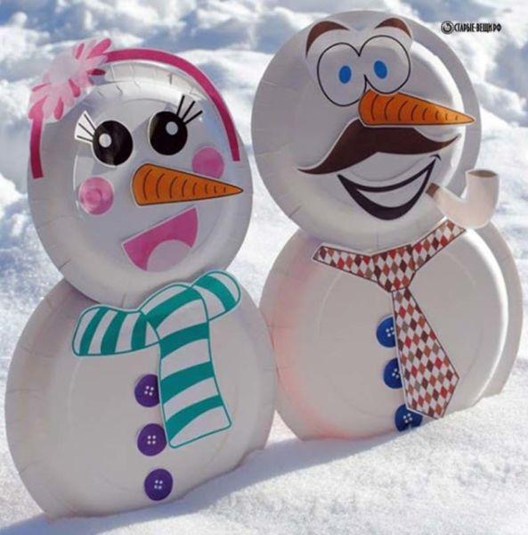 Снеговик своими руками на Новый год из подручных материалов этап 183