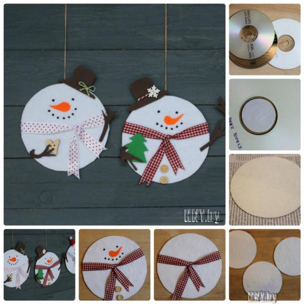 Снеговик своими руками на Новый год из подручных материалов этап 184