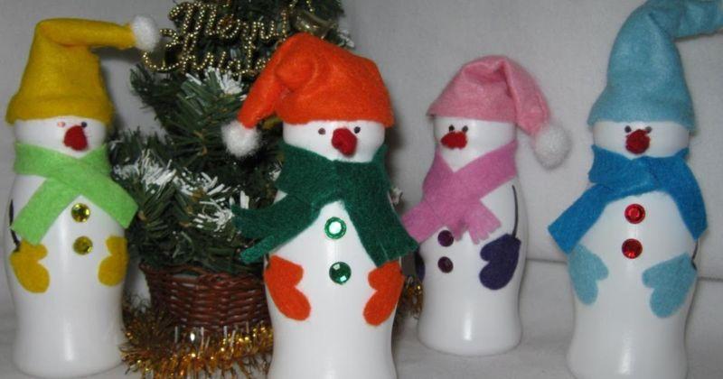 Снеговик своими руками на Новый год из подручных материалов этап 169