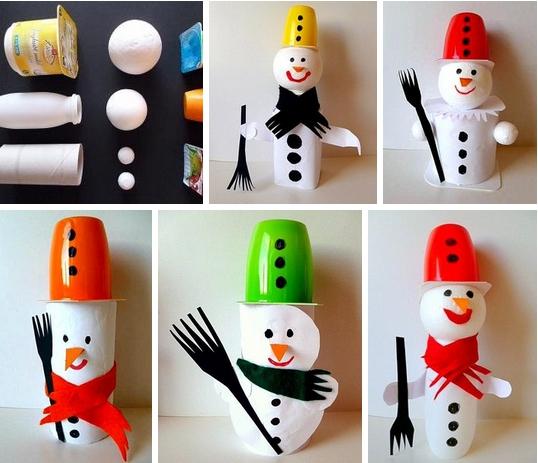 Снеговик своими руками на Новый год из подручных материалов этап 171