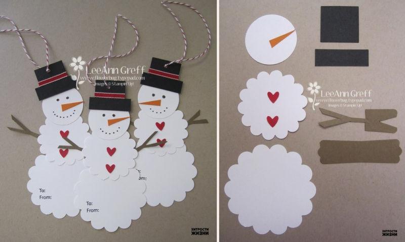 Снеговик своими руками на Новый год из подручных материалов этап 173