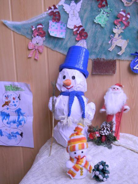 Снеговик своими руками на Новый год из подручных материалов этап 174