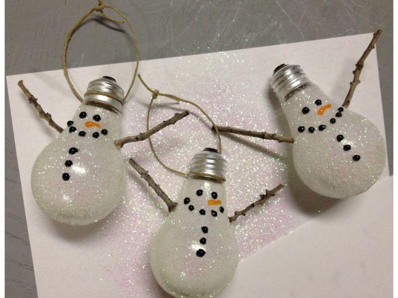 Снеговик своими руками на Новый год из подручных материалов этап 175