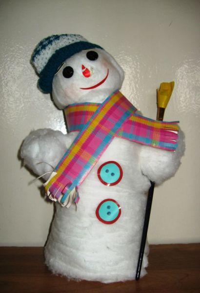 Снеговик своими руками на Новый год из подручных материалов этап 176