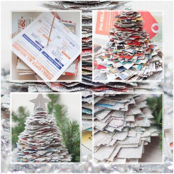 Объемная елка из бумаги — схемы и трафареты для создания елки своими руками этап 29