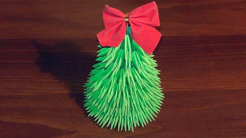 Объемная елка из бумаги — схемы и трафареты для создания елки своими руками этап 42