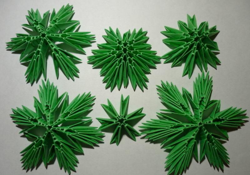 Объемная елка из бумаги — схемы и трафареты для создания елки своими руками этап 41