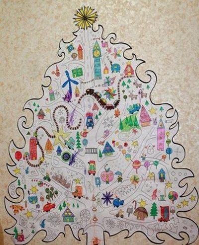 Объемная елка из бумаги — схемы и трафареты для создания елки своими руками этап 91