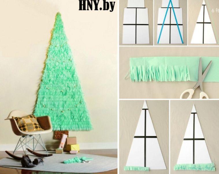 Объемная елка из бумаги — схемы и трафареты для создания елки своими руками этап 90