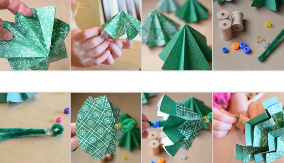 Объемная елка из бумаги — схемы и трафареты для создания елки своими руками этап 25