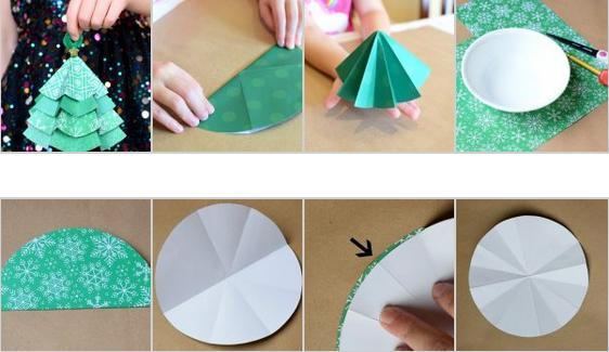 Объемная елка из бумаги — схемы и трафареты для создания елки своими руками этап 24