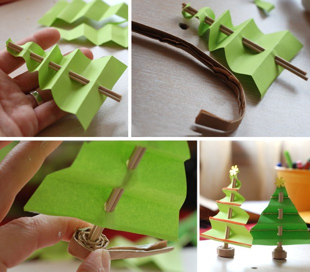 Объемная елка из бумаги — схемы и трафареты для создания елки своими руками этап 27