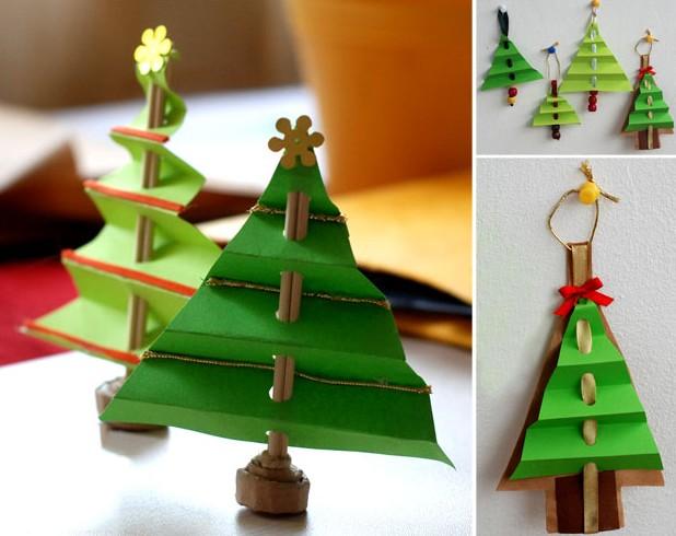 Объемная елка из бумаги — схемы и трафареты для создания елки своими руками этап 28