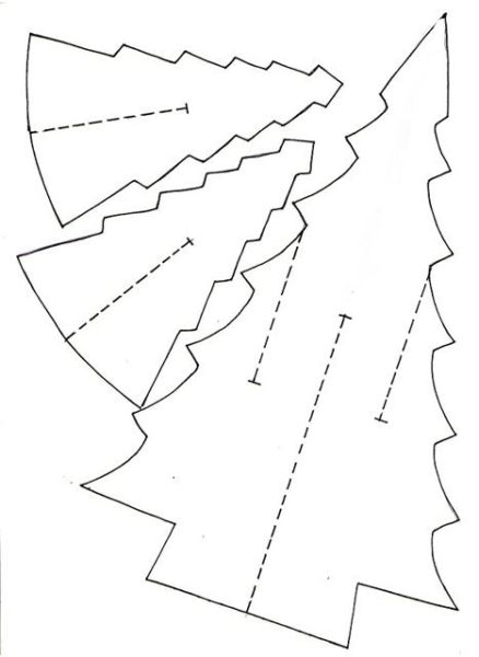 Объемная елка из бумаги — схемы и трафареты для создания елки своими руками этап 10