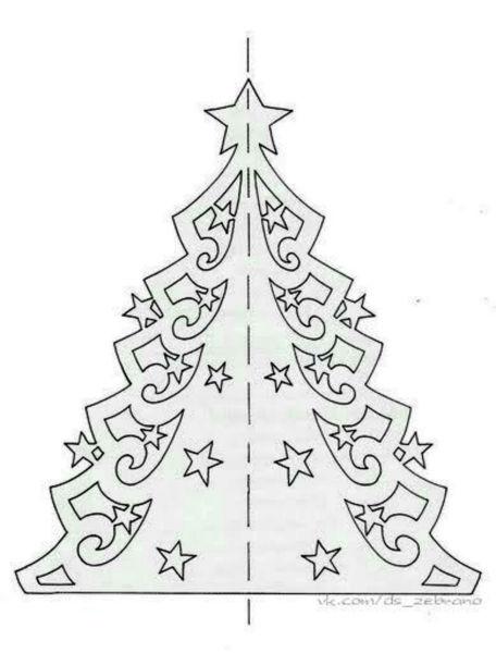 Объемная елка из бумаги — схемы и трафареты для создания елки своими руками этап 11
